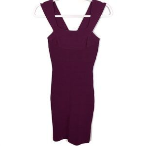 Express Purple Sleeveless Bandage Dress